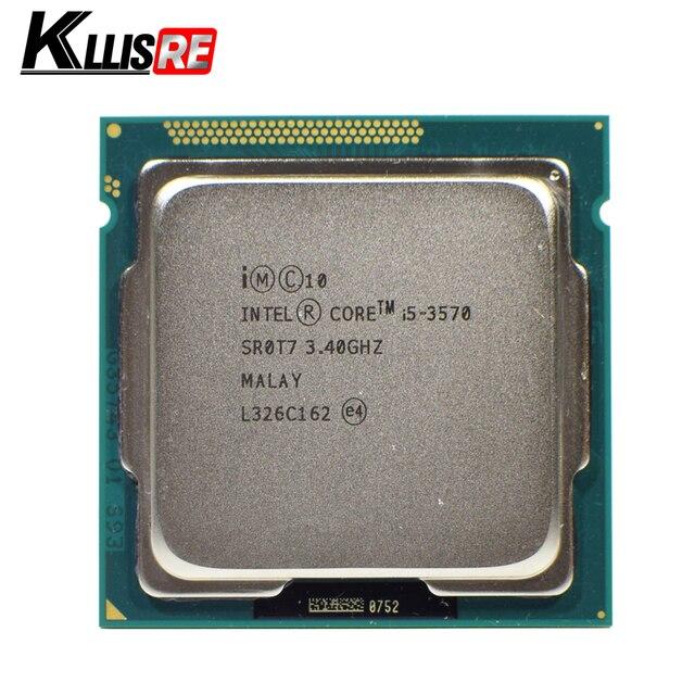 معالج Intel i5 3570 رباعي النواة 3.4 جيجاهرتز L3 = 6 متر 77 واط مقبس LGA 1155 وحدة معالجة مركزية لسطح المكتب