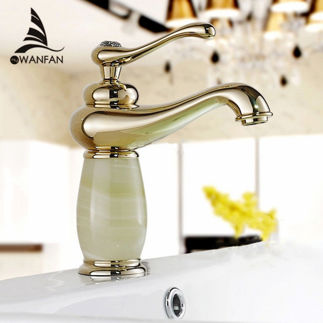 Basin Faucets Gold Finish Single Lever Basin Faucet Deck Mount Bathroom Sink Mixer Tap faucet for bathroom torneiras XKW 6006K. Bathroom Faucets Wholesale Promotion Shop for Promotional Bathroom