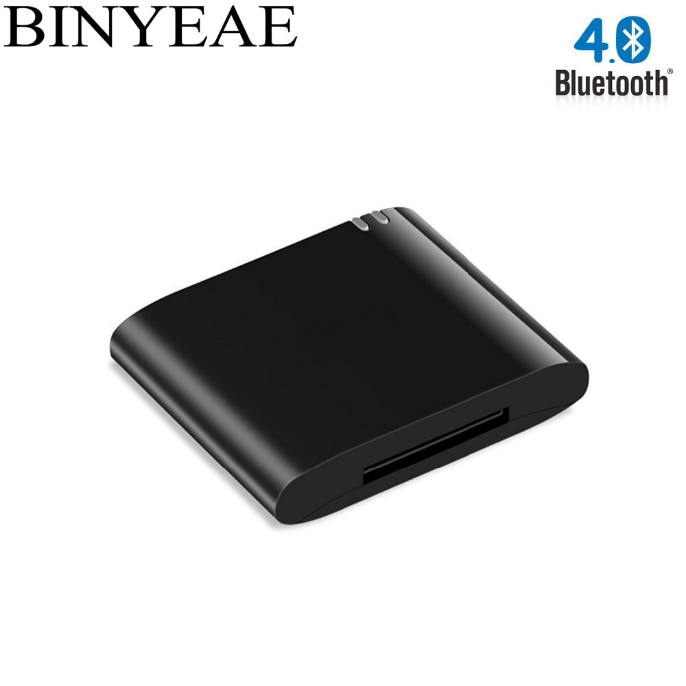 Binyeae Portable Wireless Bluetooth V4.1 A2DP Music Receiver Dock Adapter Stereo 30 pin for Bose Sounddock Speaker Boombox bluetooth a2dp music audio 30 pin receiver adapter for ipod iphone ipad speaker dock audio music receiver black eletronic hot