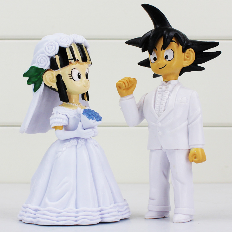 2Pcs/Set Dragon Ball Z Son Goku ChiChi Wedding PVC Action Figure ...