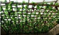 12 יחידות / lot250cm / 8.2ft ארוך צמחים מלאכותיים עלים עלווה מזויף מלאכותי ענבים גפן קיסוס הירוק עלים חתונה בבית קישוט