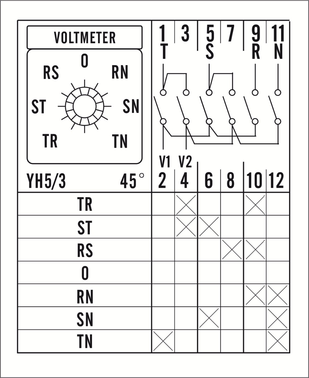 Cam Switch Wiring Diagram 6 Position Rotary House Symbols Voltmeter Selector Enthusiast Diagrams Salzer Connection Motor Question