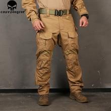 Erkekler kamuflaj av pantolonu Emersongear G3 Multicam taktik Airsoft savaş Emerson pantolon