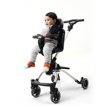 High Landscape Baby Cart Light Four Wheels Stroller Children Trolley Portable Travel Baby Pram Shock Absorber Baby Walker Car 4 colors baby stroller children car walkers with wheels children trolley slippery car skateboard baby walker scooter