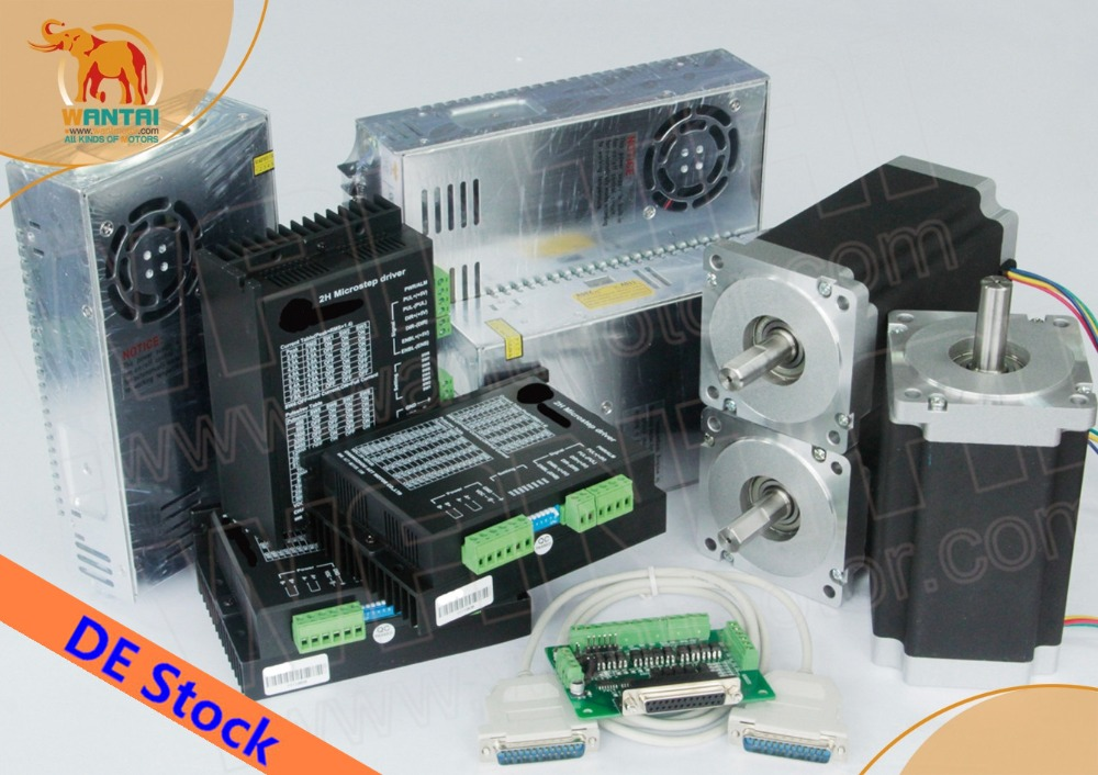 EU Free From DE! Wantmotor 3 Axis Nema34 Stepper Motor 85BYGH450D-008 5.6A 1090oz-in+Driver DQ860MA 80V 7.8A 256Micro Faster