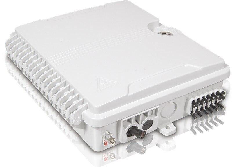 Image 3 - FTTH 12 cores fiber Termination Box 12 port 12 channel Splitter Box indoor outdoor fiber Splitter Box ABS-in Fiber Optic Equipments from Cellphones & Telecommunications