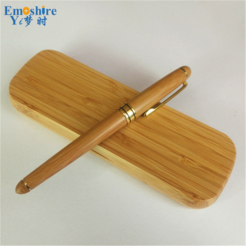 Hot Factory Supply Bamboo Signature Pen Roller Ball Pen Suit Boutique Bamboo Ballpoint Pen for Students Graduation Gift P056 hot classic signature pen set wooden crafts for company meeting gifts ball point pen roller ball pen for writing supplies p050