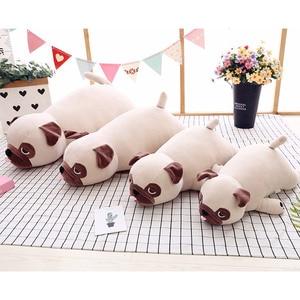 Image 5 - Nieuwe Leuke Animal Kawaii Hond Pop Kussen Baby Slaap Verjaardagscadeau Kind Meisje Zachte Sussen Pug Stuffedl 55Cm