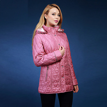 winter jacket women European brand VLAST  autumn and winter parka plus thick slim cotton coat with hood plus size 46-62 VLC-V301