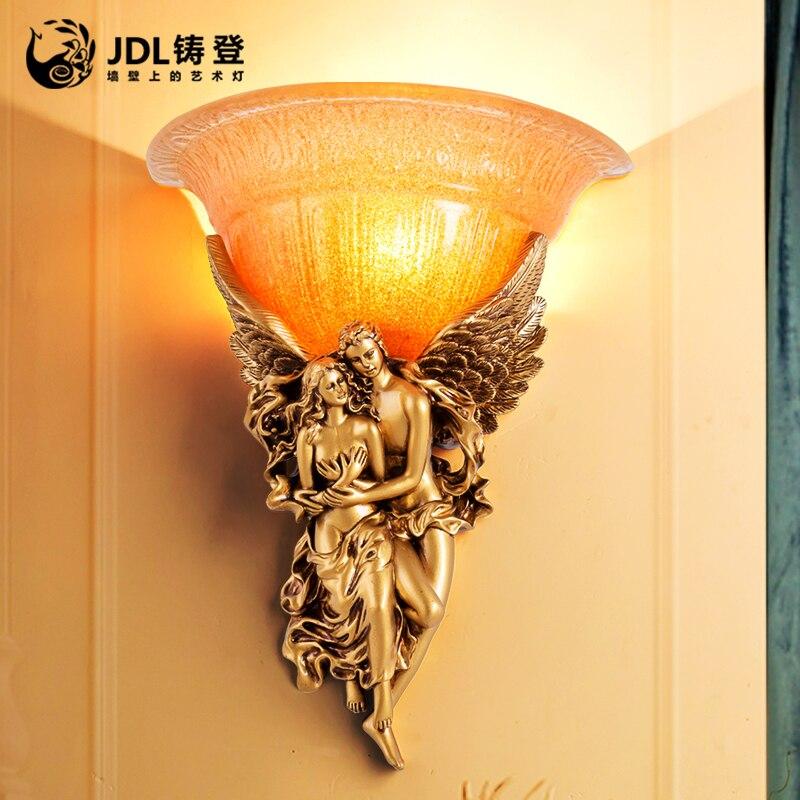Гостиной спальня ночники бра Ангел в европейском и американском стиле минималистский фон освещение проходу лестницы