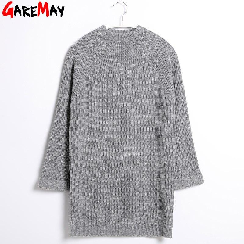 Image 5 - Robe Pull Femme  Sweater Dress Women Winter Sweaters And Long  Pullover Womens Jumpers Knit  Jersey Mujer GAREMAYwomen winter  sweaterwinter sweaterjumper knit