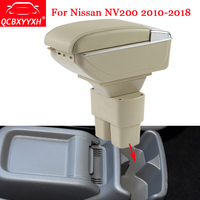 QCBXYYXH Car Styling ABS Car Armrest Box Center Console Storage Box Holder Case Fit For Nissan NV200 2010 2018 Auto Accessories