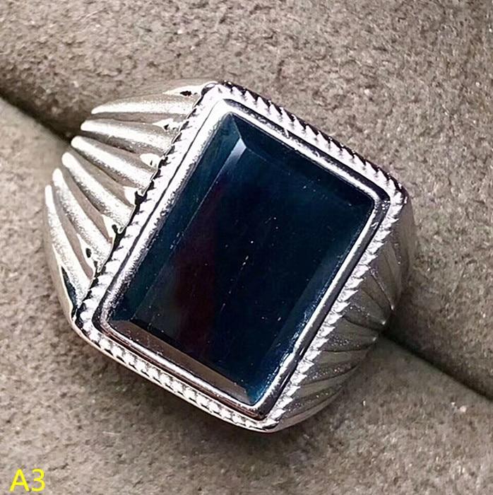 KJJEAXCMY Fine jewelry 925 pure silver jewellery box, natural sapphire male rings, big jewels