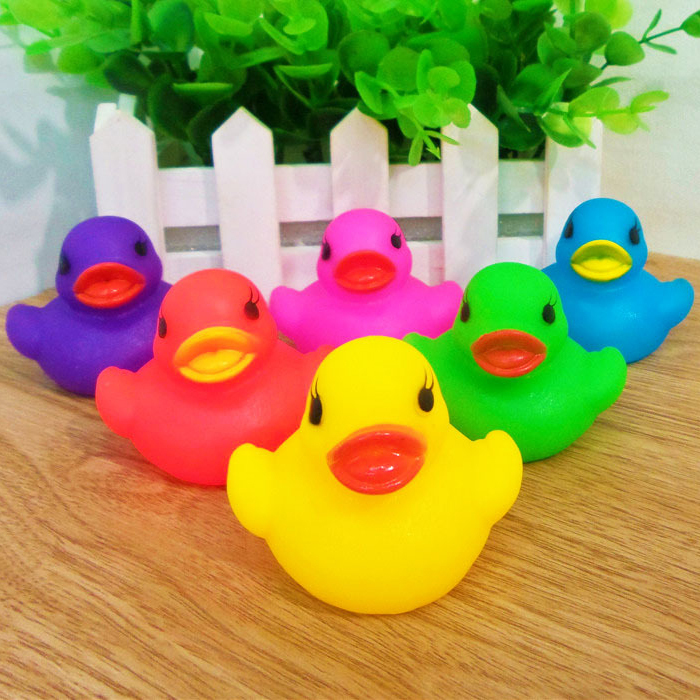 Aliexpress.com : Buy 6 Colors Cute PVC Duck Baby Bath ...