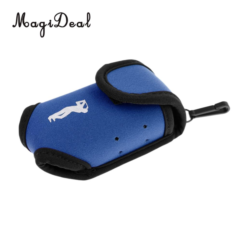 MagiDeal Super Elastic Neoprene SBR Mini Portable Golf Storage Bag Holder Pouch Small Waist Pack Balls Tees Accessories Blue