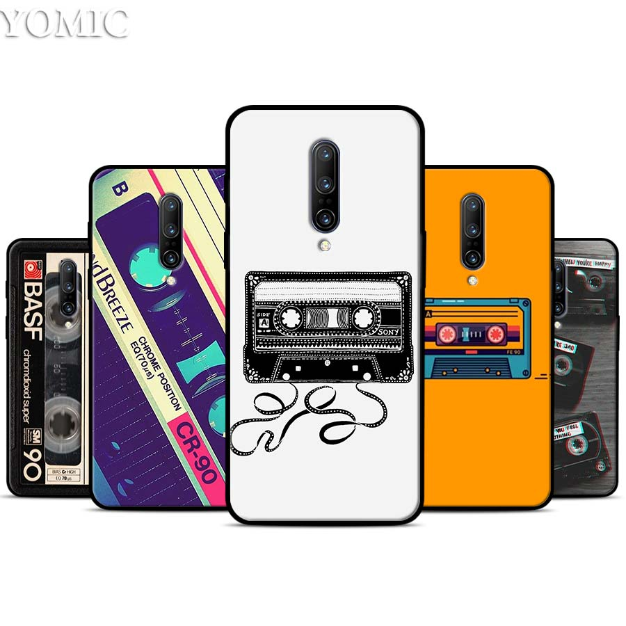 Classic retro cassette tape Silicone Case for font b Oneplus b font font b 7 b