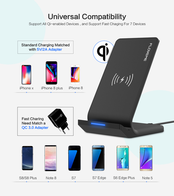 5V/2A Wireless Phone Charging Dock