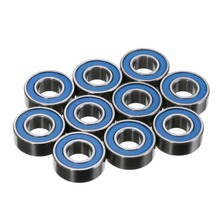 10PPCS MR115RS 2RS Deep Groove Ball Bearings Blue Rubber Sealed Wheel Hub Miniature Ball Steel Bearing Size 5X11X4mm 2pcs rubber sealed 440 stainless steel hybrid ceramic ball bearings s6803 6803 2rs 17 26 5mm si3n4 bike part