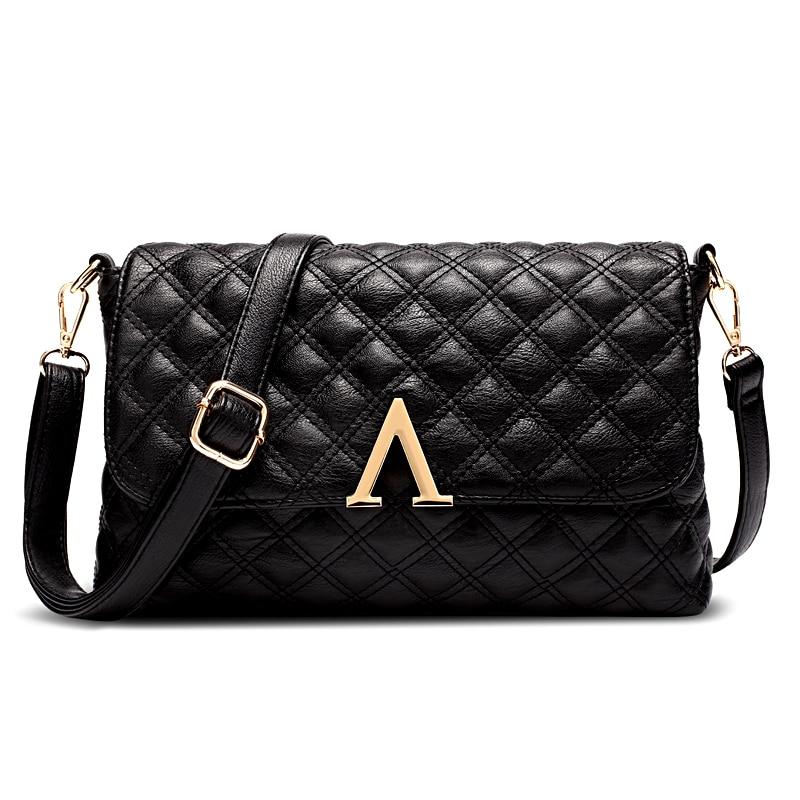 ФОТО Women bag leather fashion handbag plaid bag for women brief women messenger bags lattice handbags women famous brand casual bag