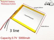 Bateria do Tablet 3 cabo da bateria 4285104 capacidade 5000 mAh bateria de polímero para tablet pc 9 8 7 polegada polegada polegada