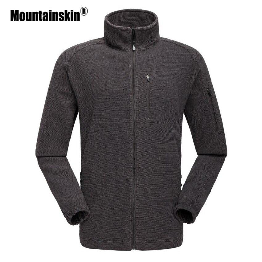 d19c9c69 Høst Solid Brand Klær Grå Nytt Mountainskin Jakke Fit Outerwears Fleece  Herre Mann Menn Blå Slim ...