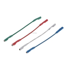 4 шт., универсальные серебряные провода, коннектор, провод, кабель 50 мм для 1,2-1,3 мм, шпильки, поворотный стол, Phono, головной убор, тонарм