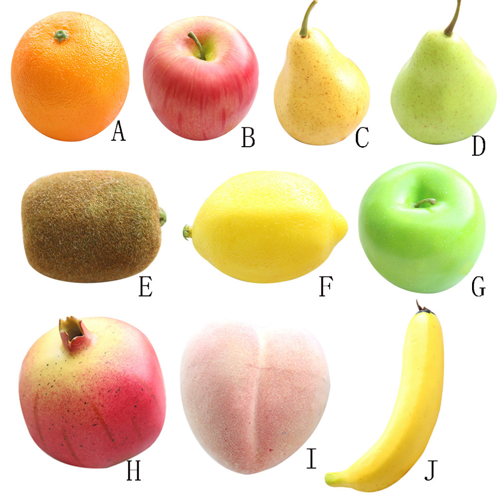 Artificial fruit simulation fake food lifelike photo props for Artificial pears decoration