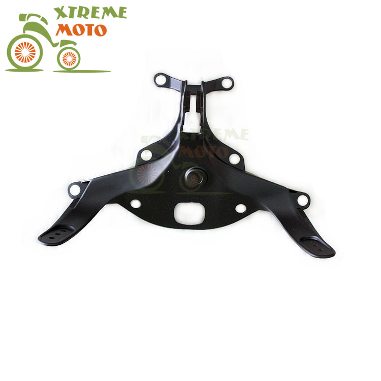 Aluminum Black Motorcycle Front Upper Fairing Bracket Stay Racer Light For YAMAHA YZF R1 2004-2006 2004 2005 2006 04 05 06 black motorcycle front