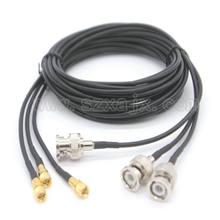 Connecteurs mâle 10-32UNF à BNC mâle pour capteur d'accélération de Vibration, câbles de test 0.5M-3M, 1 pièces