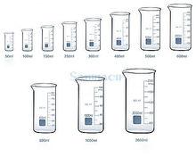 800ML Tall Form Beaker Chemistry Lab GG-17 Borosilicate Glass Thickened