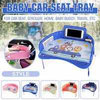 Carro do bebê assento de segurança bandeja mesa portátil multifuncional dos desenhos animados bebê criança criança criança assento de carro cadeira de brinquedo comida bebida celular titular