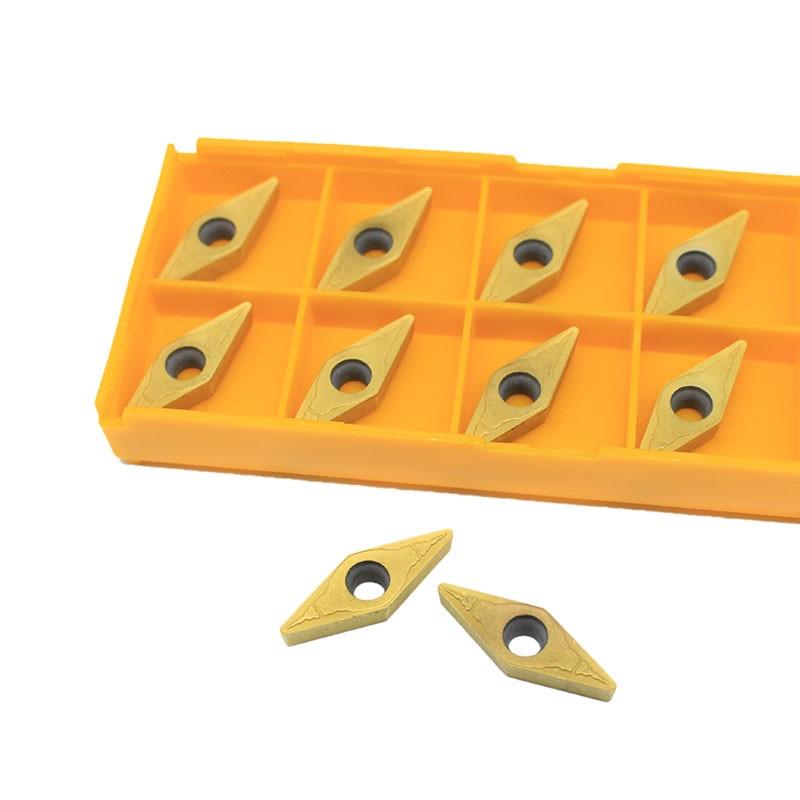 10PCS VBMT160408 PM UE6020 External Turning Tools Vbmt 160408 Carbide Inserts High Quality Lathe Cutter Tool
