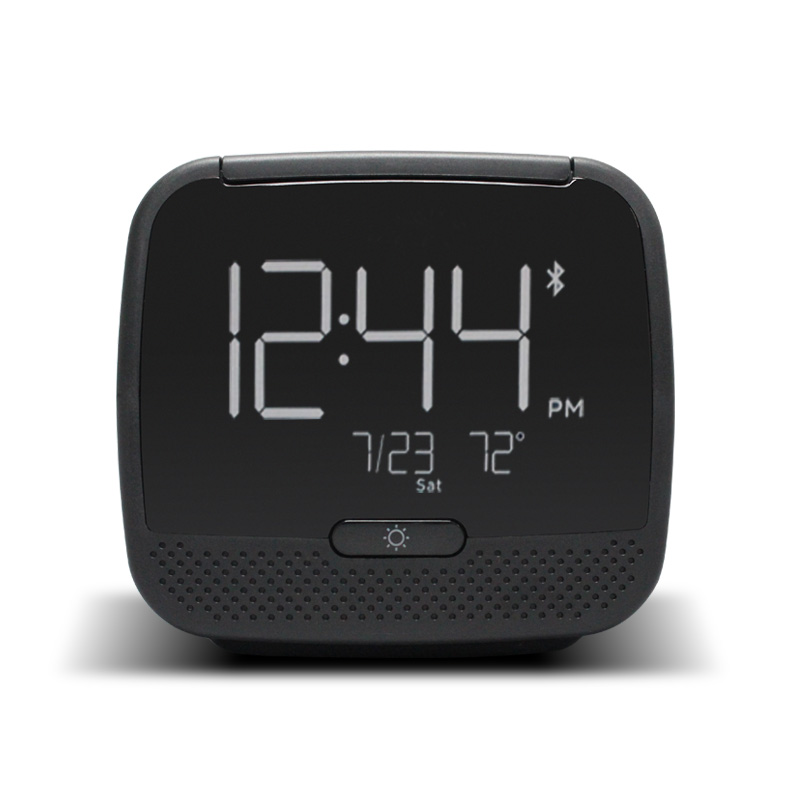 2017New Cube  Radio Alarm Clock Wireless Bluetooth Speaker Snooze Mute Gadgets LCD DigitalClock Two USB Charging Watch WITFAMILY gadget