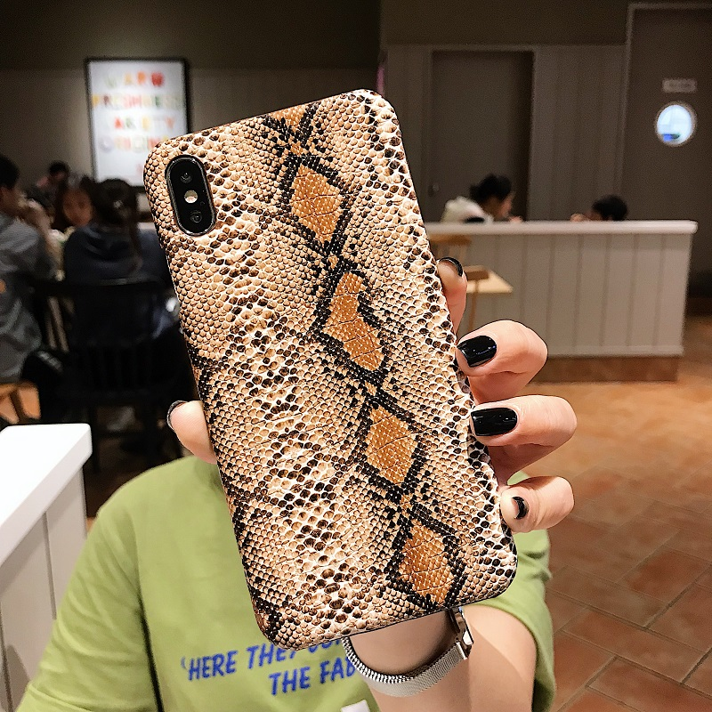 SnakeSkin PU Leather Phone Case For iPhone11 pro max 7 8 Plus X XS Max XR 3
