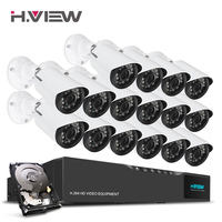 H View 16CH Surveillance System 1TB HDD 16 720P Outdoor Security Camera 16CH CCTV DVR Kit