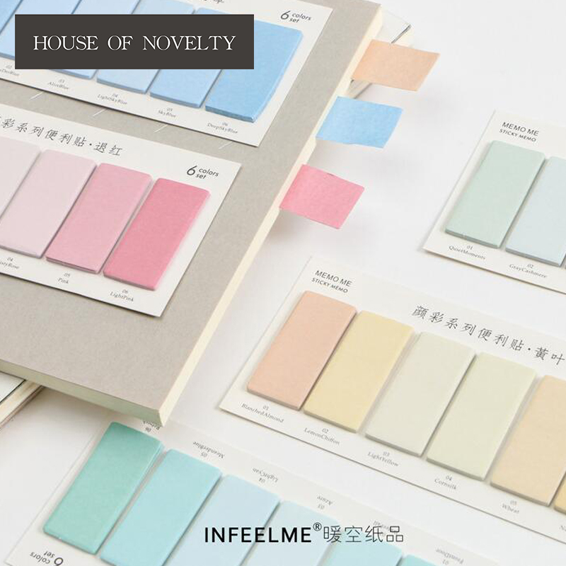 Simple Colorful Self-Adhesive Memo Pad Sticky Notes Bookmark School Office Supply 2018 pet transparent sticky notes and memo pad self adhesiv memo pad colored post sticker papelaria office school supplies