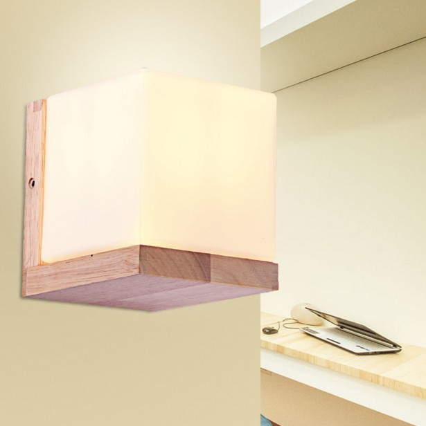 Modern Novelty Minilism Solid Wood Wall Lamp Frosted Glass Oak Wood Wall Lights Indoor Home Decoration Bedroom Wall Sconce modern minimalist wall lamp solid wood lamps frosted glass oak lights indoor home lighting fixtures decoration bedroom sconce