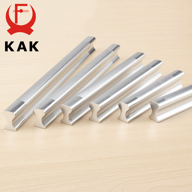5PCS KAK Aluminum Alloy Handles Kitchen Drawer Pulls Cupboard Cabinets Knobs Door Modern Wardrobe Handle For Furniture Hardware