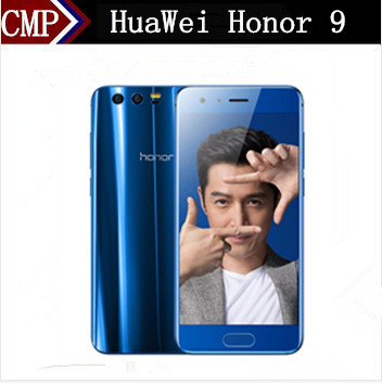 "bilder für Ursprünglicher HuaWei Honor 9 4G LTE Handy Kirin 960 Octa-core Android 7.0 5,15 ""FHD 1920X1080 6 GB RAM 128 GB ROM 20.0MP NFC"