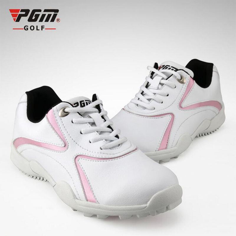 PGM Brand 2017 New Womens Microfiber Leather golf shoes super anti - skid leisure sports shoes waterproof breathabl