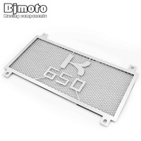BJMOTO Motorcycle Stainless Steel Radiator Guard Cover Protector For KAWASAKI Z650 2017