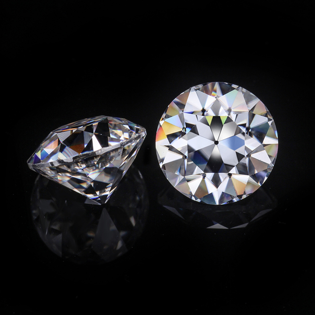 Lab Created White Round Old European Cut 10mm Moissanites Loose Gemstone For Jewelry.