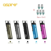 Aspire Spryte AIO Kit Electronic Cigarette Vape pen with 5pcs 1.2ohm coils Built in 650mAh Battery 3.5ml E cigarettes vs ijust S