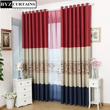 Eiffel Tower curtains for joining together the Mediterranean style living room bedroom physical environmental shading