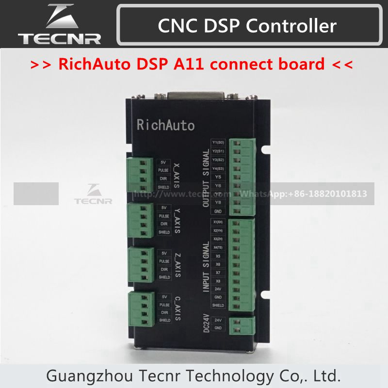 Genuine RichAuto DSP A11 connect board only 3 axis motion control system with English language richauto a11 dsp controller for cnc router control dsp a11s a11e board data line