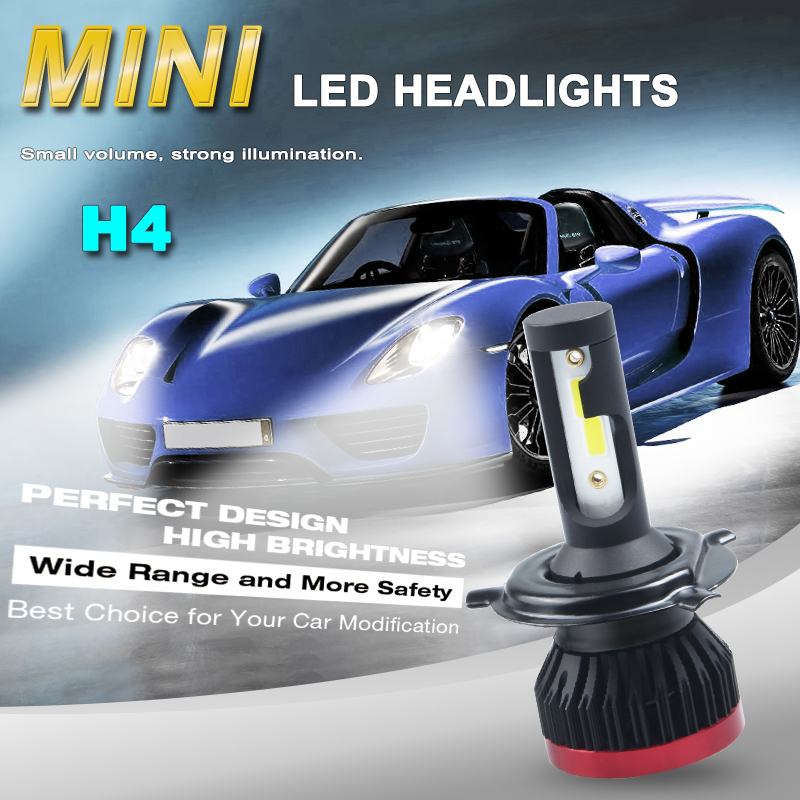 2PCs Mini <font><b>led</b></font> H7 H4 <font><b>LED</b></font> Bulb Car Headlight H11 H1 H8 H9 <font><b>H3</b></font> 9005/HB3 9006/HB4 100W <font><b>20000LM</b></font> 6500K Auto Headlamp Fog Light image