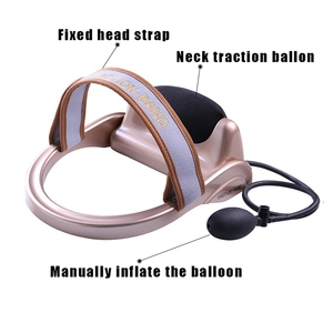 Image 3 - Neck Traction Cervical Posture Pump Air Filled Vertebra Correction Tractor Relaxing Massager Spine Muscle Relief Pain Device