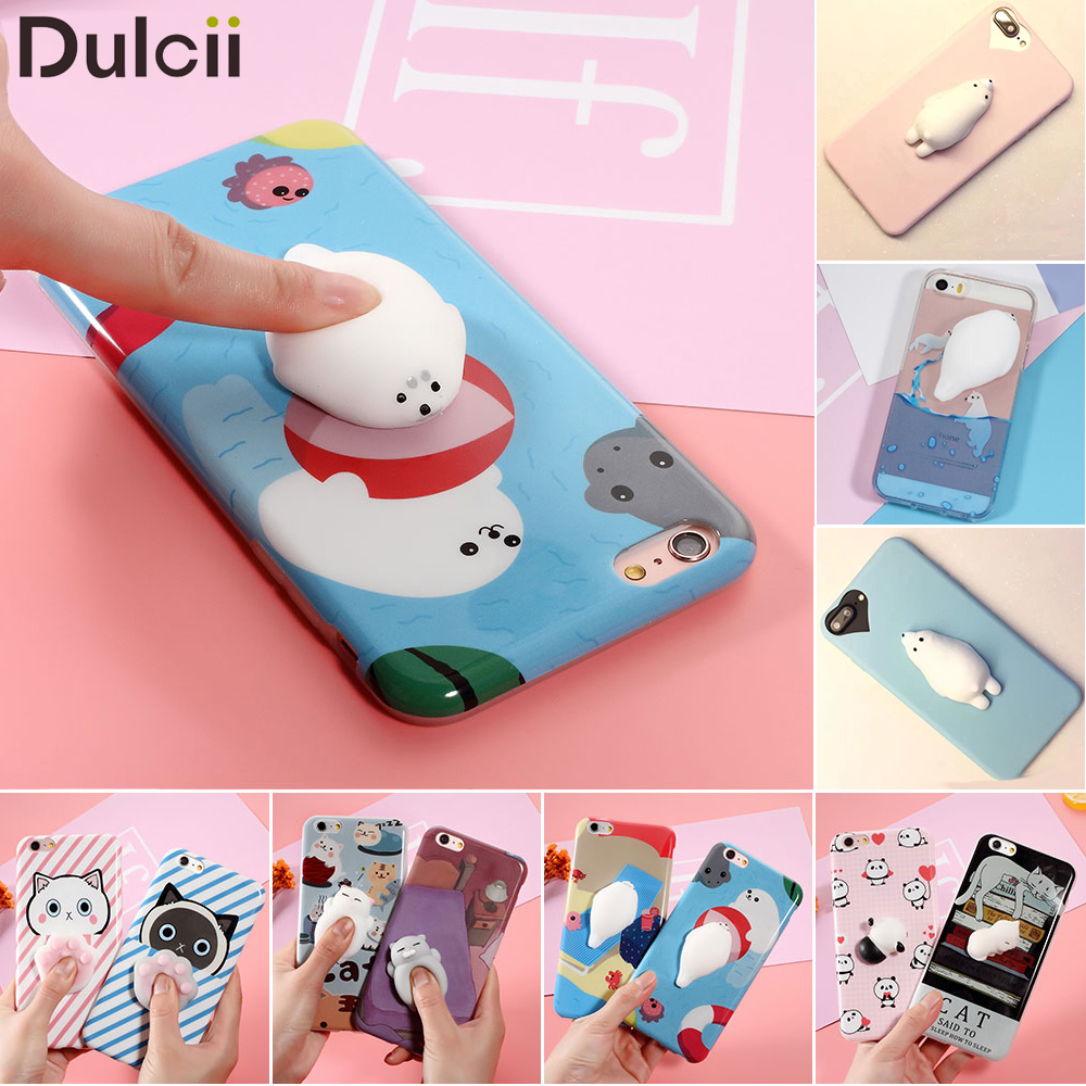 squishy Lovely 3D Animals Seal Phone Cases For font b iphone b font 6 6s Plus