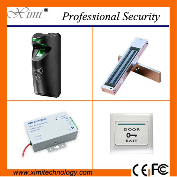 Cheap fingerprint reader with rfid card reader TCP/IP access control system with access control lock power supply exit button 3000 users fingerprint access control with tcp ip software door access system with rfid card reader