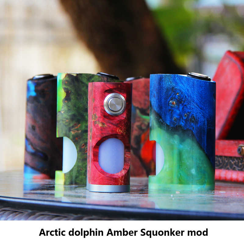 Original Arctic Dolphin Amber Squonk MOD 18650 battery Vape mod with 7ML Squonk Bottle electronic cigarette mod For RTA TDA Tank